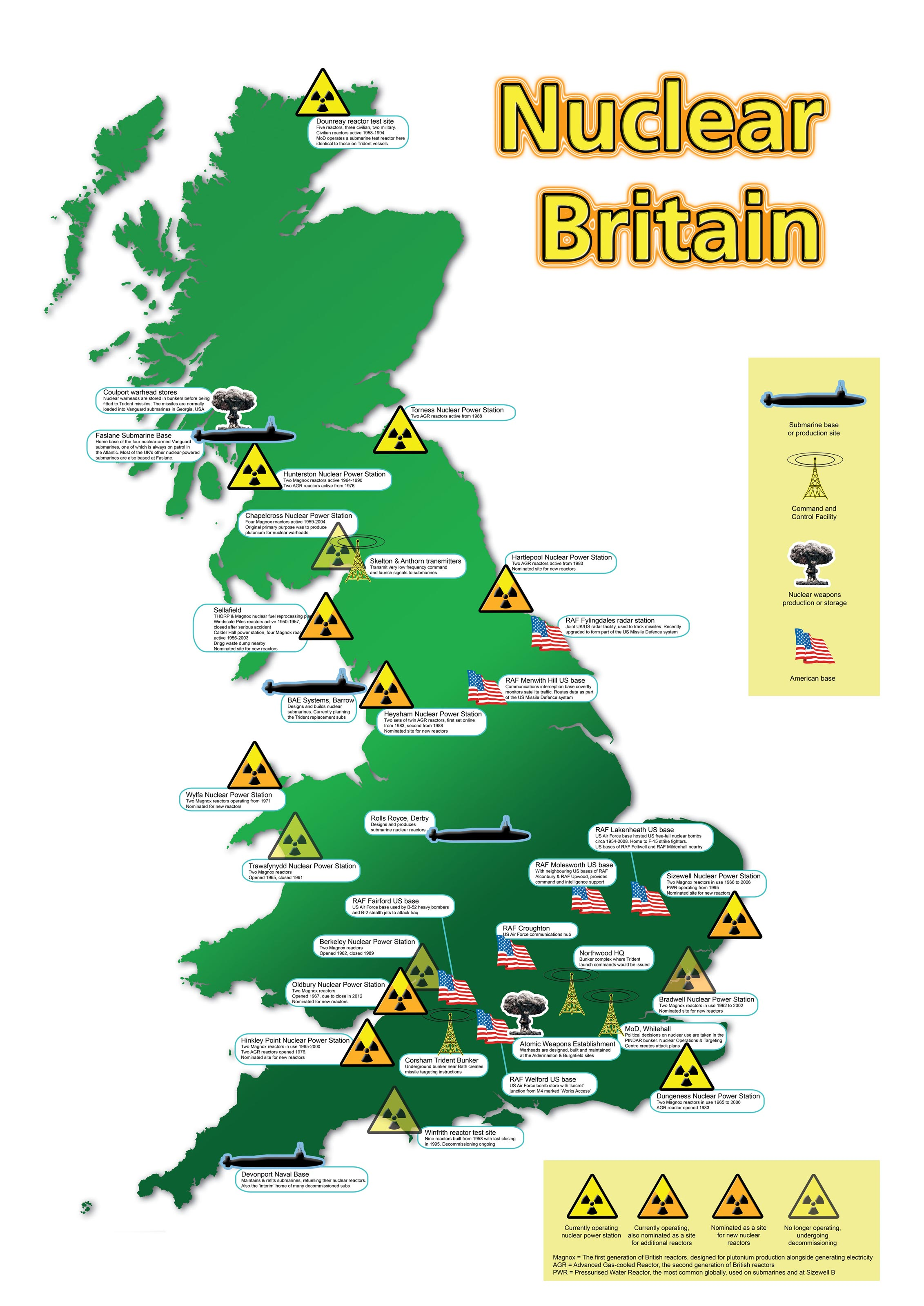Resources Scottish CND Education - Map of nuclear bomb locations in us